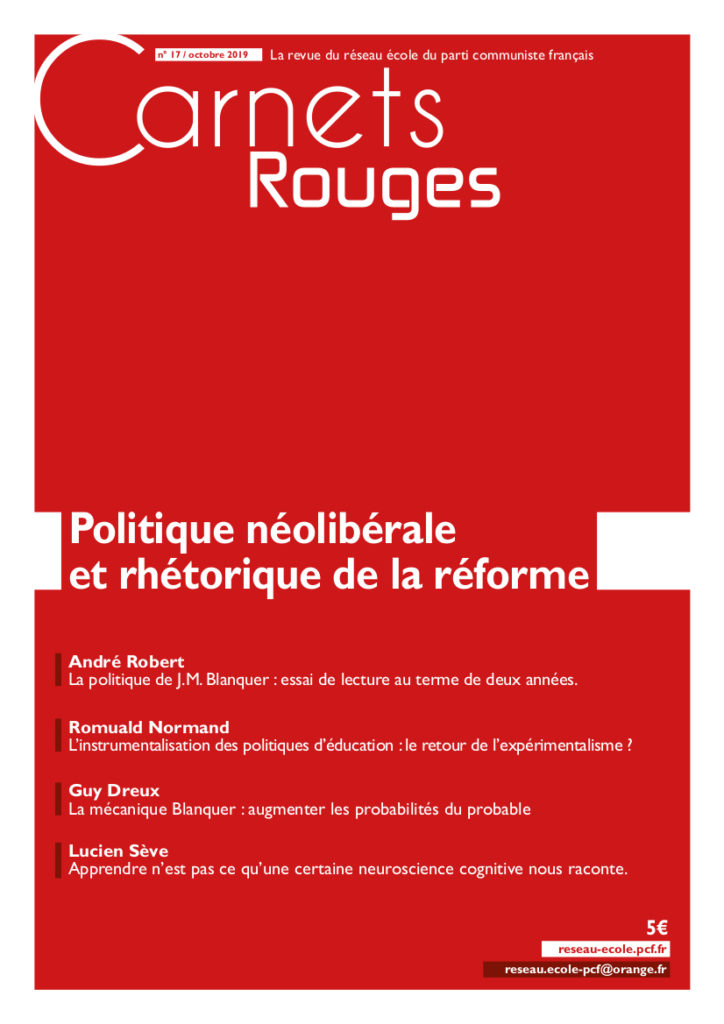 Couverture : Carnets rouges n°17 | Septembre 2019