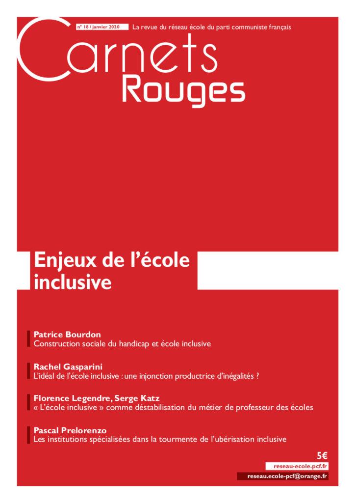 Couverture: Carnets rouges n°18 | Janvier 2020